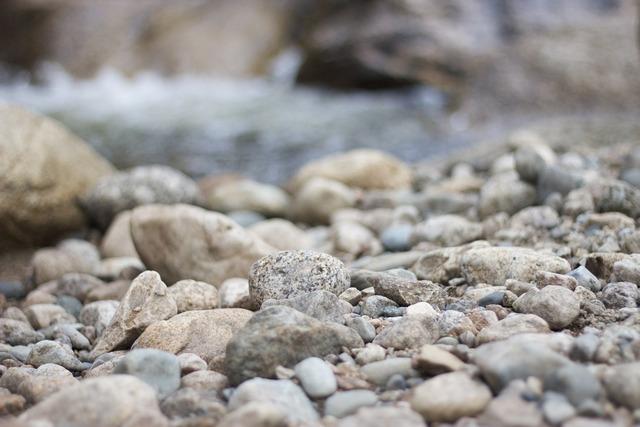 Pebbles stones flints.