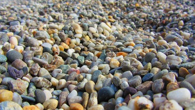 Pebbles stones round, travel vacation.