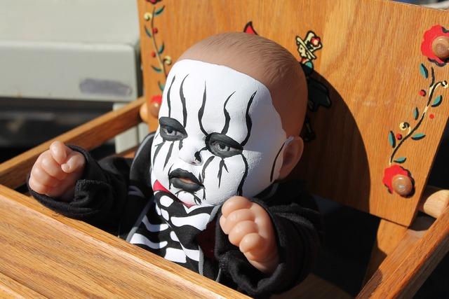 Pediophobia halloween doll haunted doll, emotions.