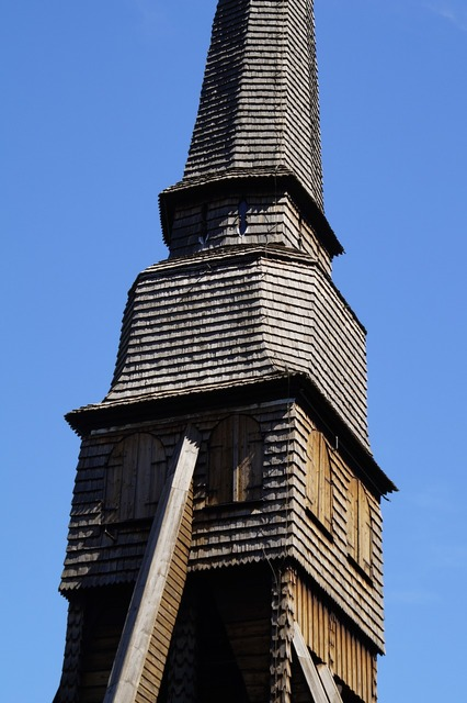 Pelarne steeple wooden church, architecture buildings.