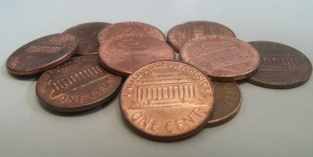 Pennies penny coins, business finance.