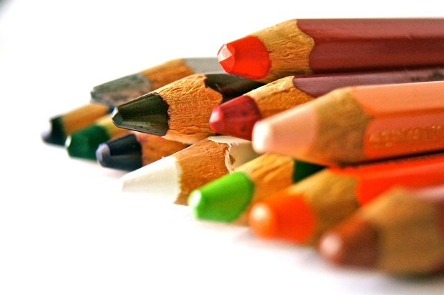 Pens colored pencils school, education.