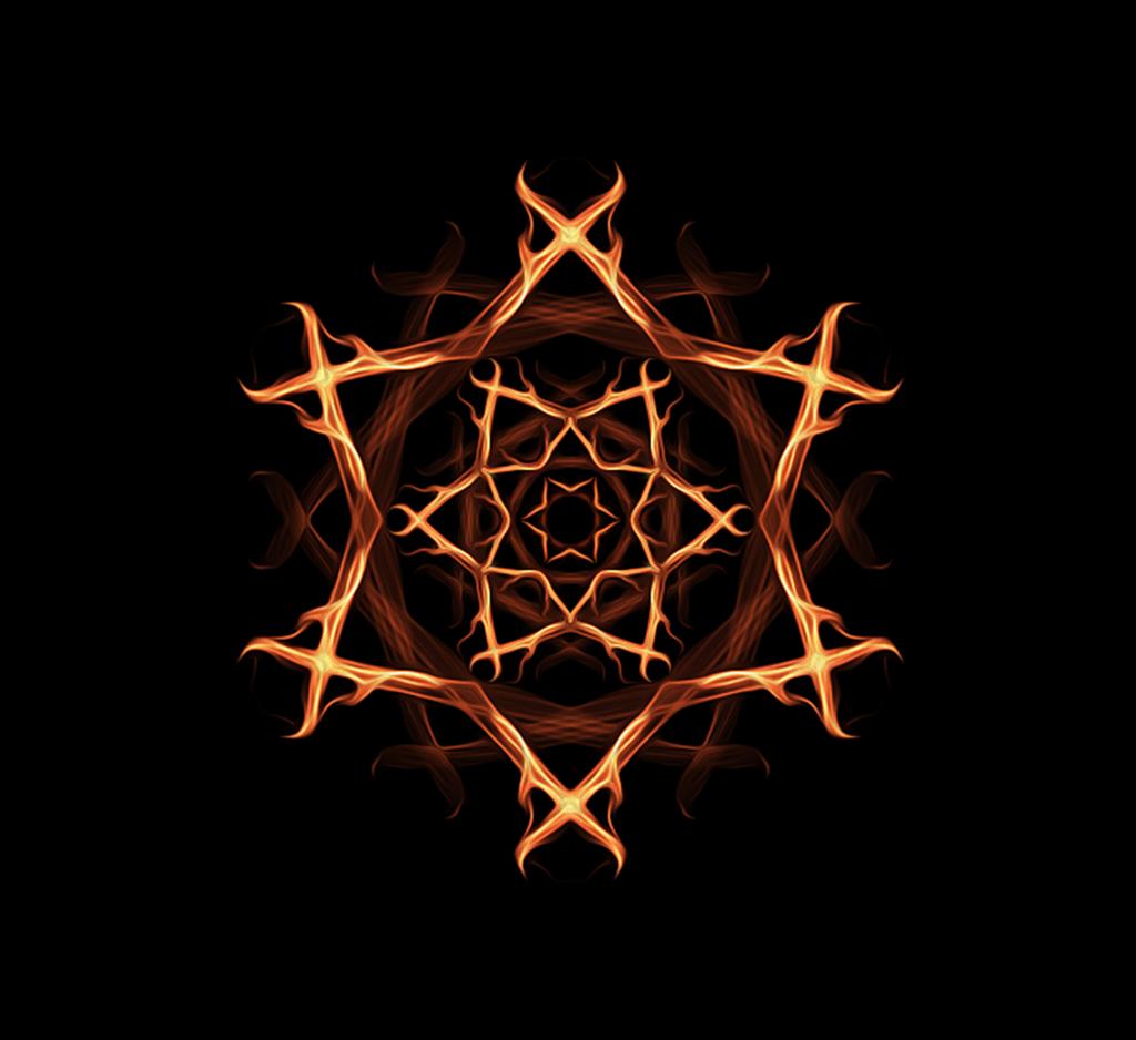 Pentagram witches pentagram witch  - PICRYL Public Domain Image