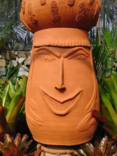 Person smile ceramics, people.
