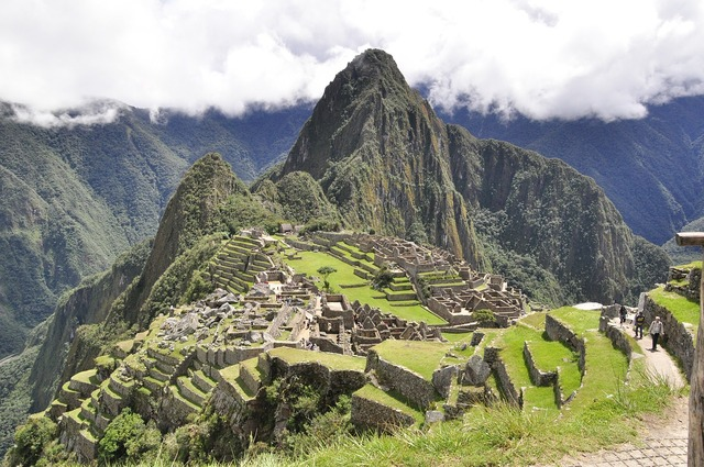 Peru andes mountains, architecture buildings.