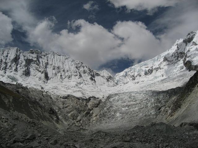 Peru mountains snow.