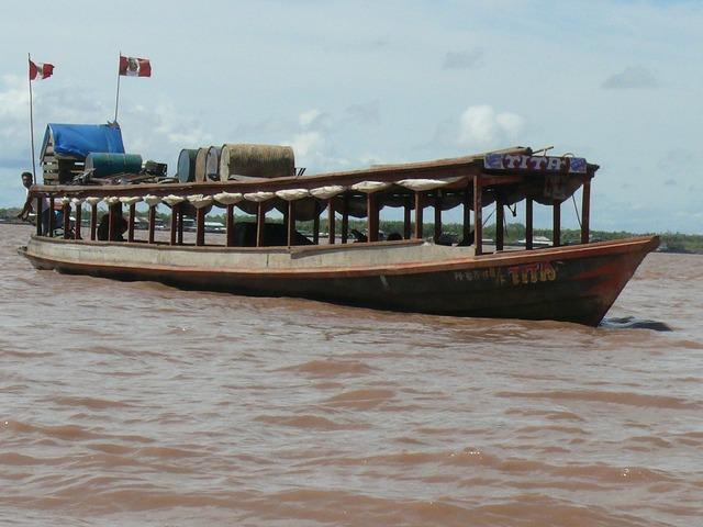 Peru pucallpa river.