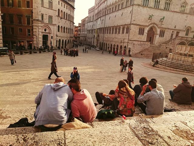 Perugia scalinata steps.