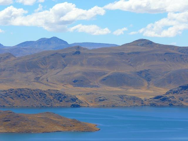 Peruvian highland mountains peru.