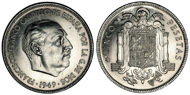 Pesetas coins spain, business finance.