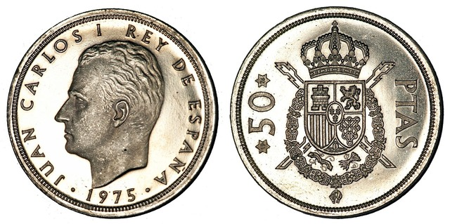 Pesetas coins spain, business finance.