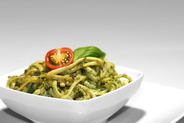 Pesto bowl spaghetti.