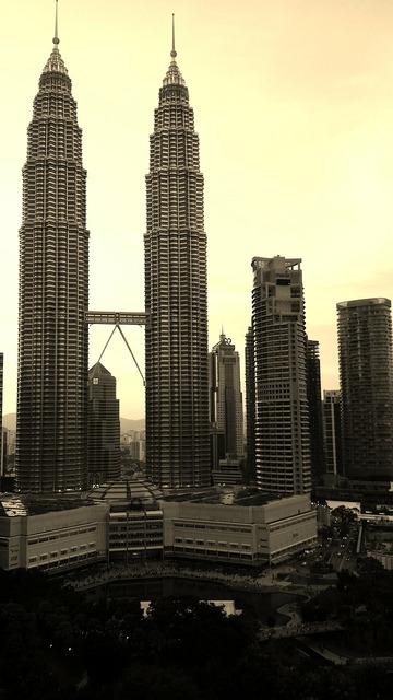 Petronas twin towers petronas towers kuala lumpur, architecture buildings.