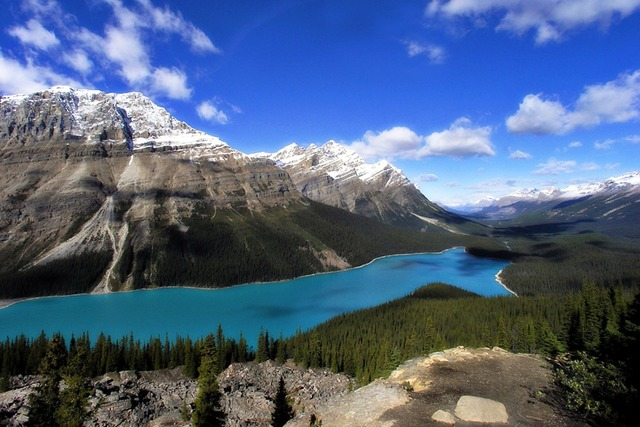 Peyto lake canadien rockys mopuntains, nature landscapes.