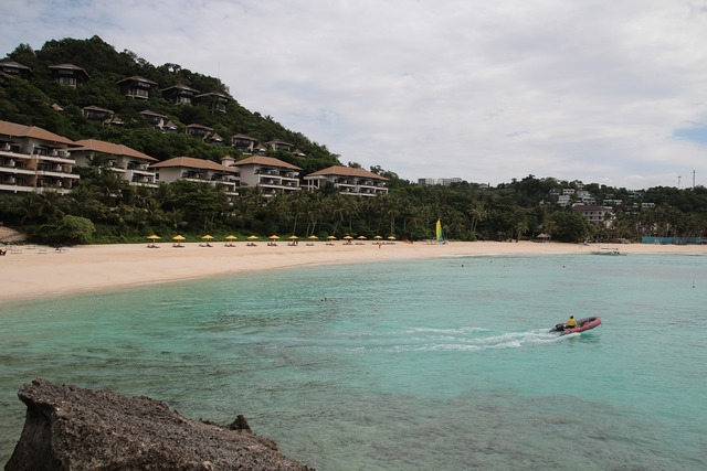 Philippine lotto central shangri-la's long beach island, travel vacation.