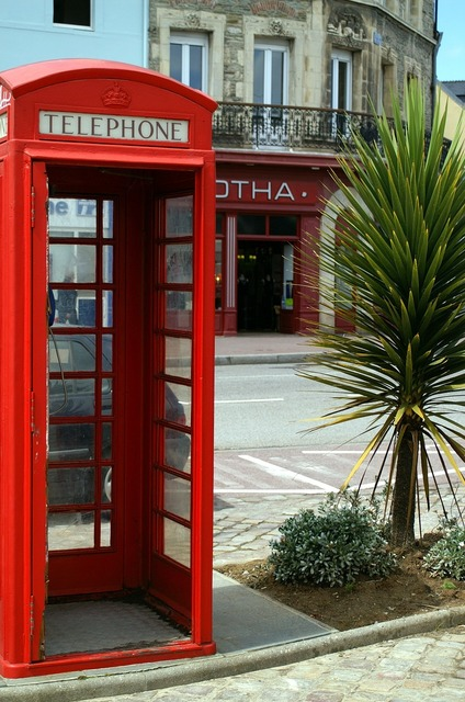 Phone booth france cherbourg.