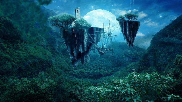 Photo manipulation digital art artwork, nature landscapes.