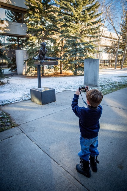 Photographer child apprentice, people.