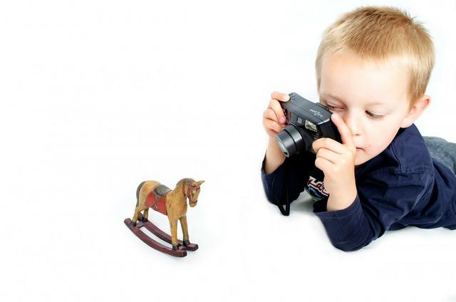 Photographer child camera, people.