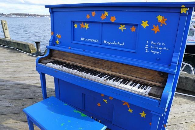Piano music blue, music.