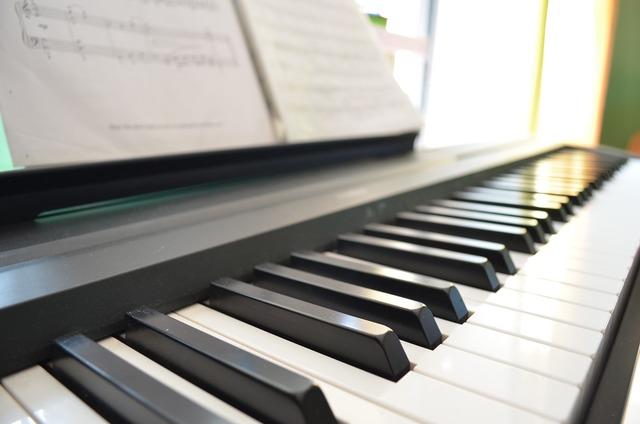 Piano music keys, music.