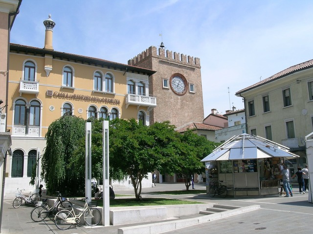 Piazza mestre historical centre.