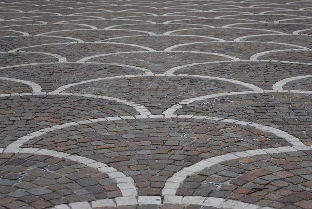 Piazza mosaic floor.