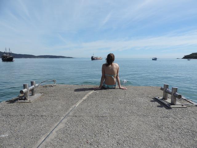 Pier mar beach, travel vacation.