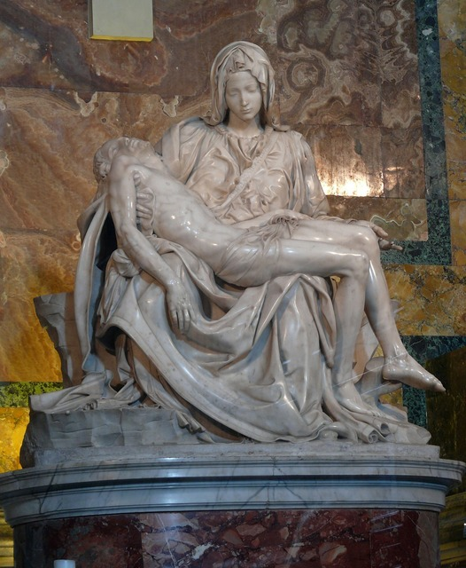 Piet michelangelo the vatican, religion.