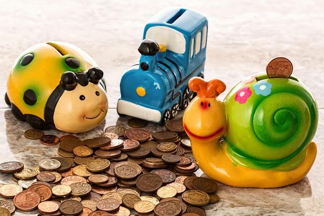 Piggy bank savings coins, business finance.