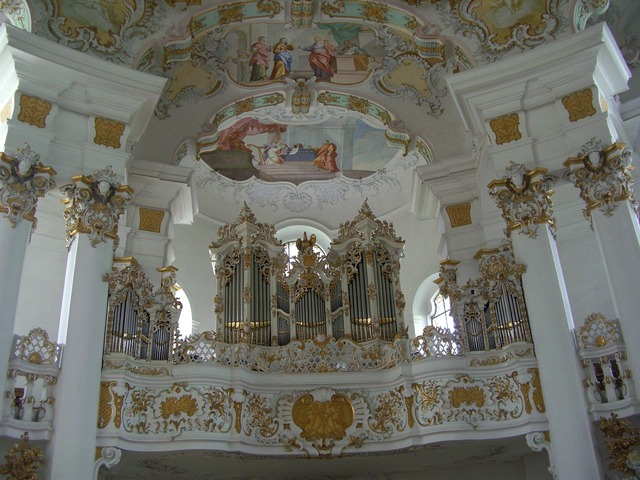 Pilgrimage church of wies pilgrimage church bavaria, religion.