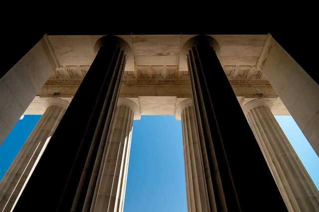 Pillar modern stone, architecture buildings.