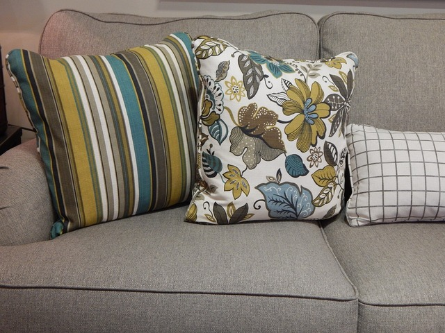 Pillows sofa couch.
