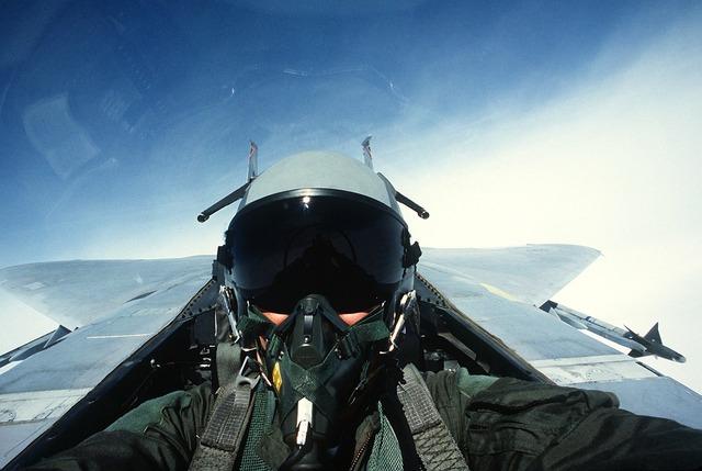 Pilot fighter jet jet.