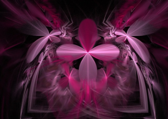 Pink floral fractals.
