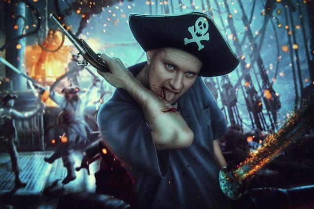 Pirate ship blood.