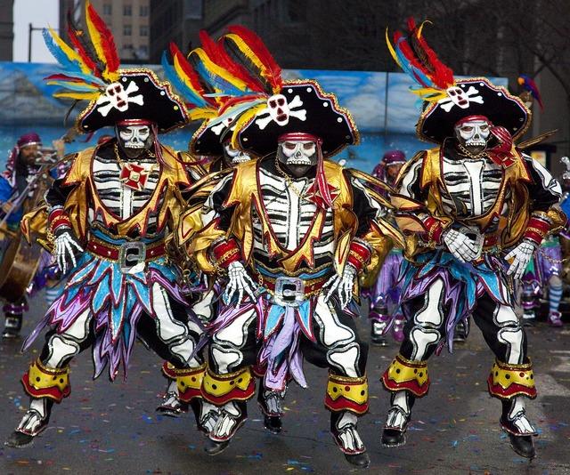 Pirates costumes parade.