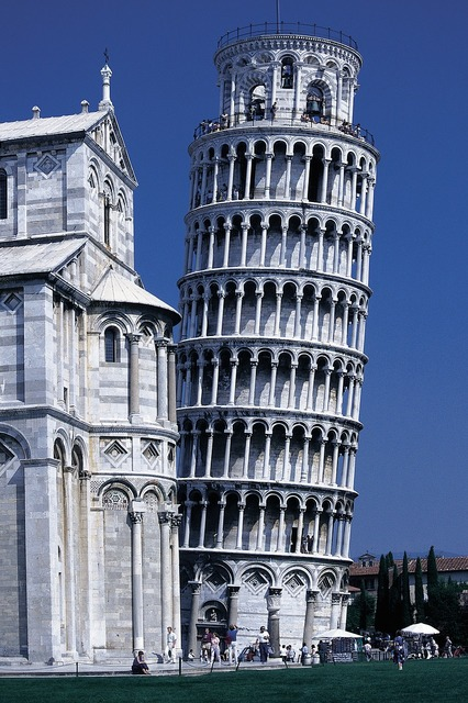 Pisa dom leaning tower, architecture buildings.