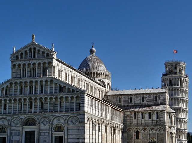 Pisa leaning tower dom, architecture buildings.