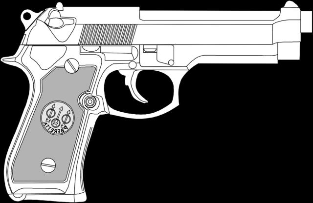 Pistol gun dangerous.