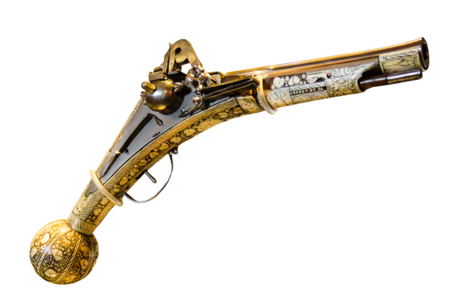 Pistol old weapon.