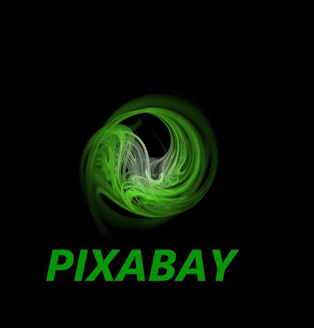 Pixabay word lettering.