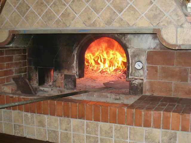 Pizza oven cooking, food drink.