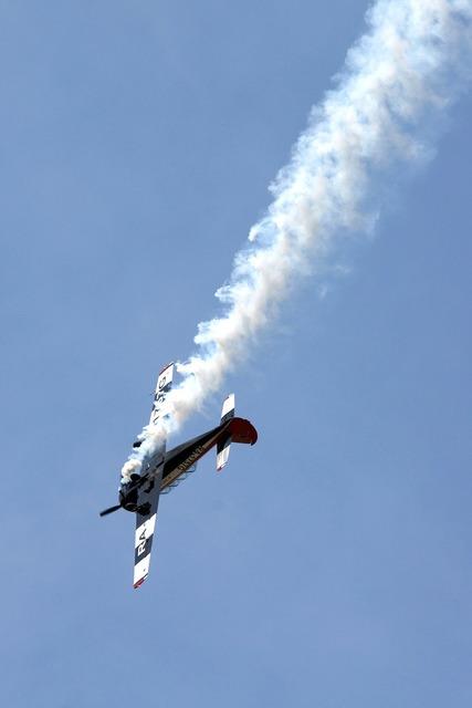 Plane blue sky flight.
