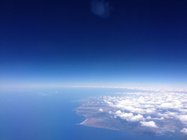 Plane view spain gibraltar.