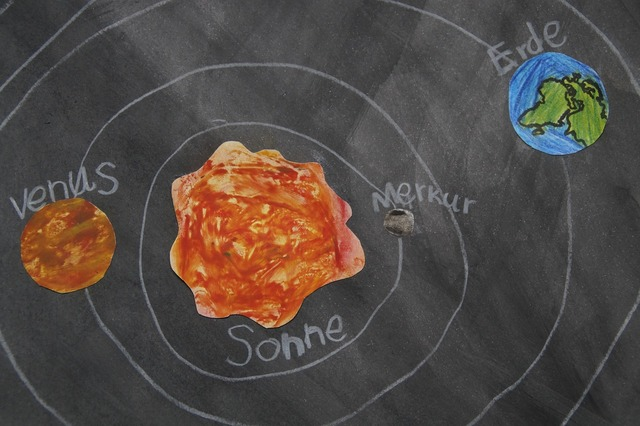 Planet chalk drawing celestial body, education.