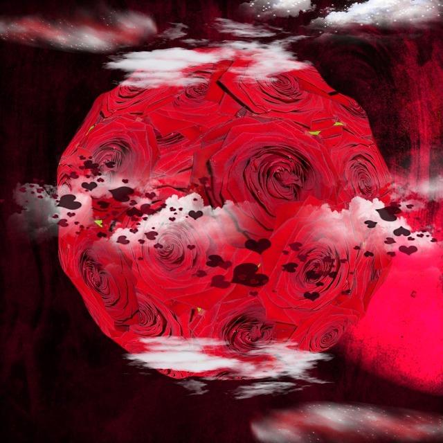 Planet fantasy roses, nature landscapes.