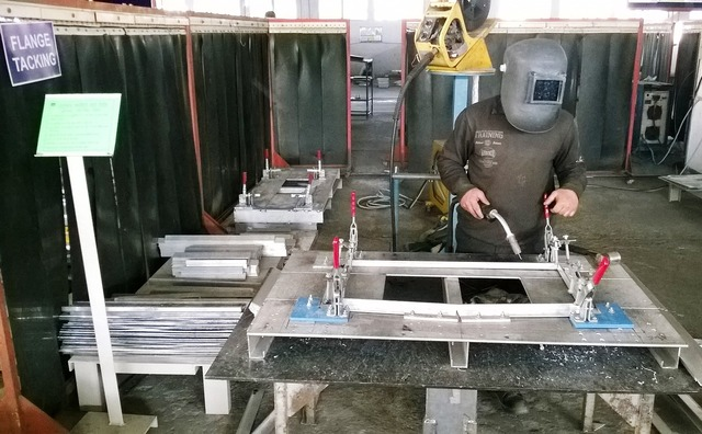 Plant welding manufacturing, nature landscapes.