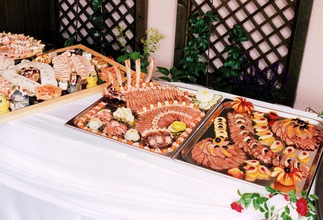 Plate buffet eat, food drink.