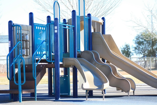 Playground park slide.